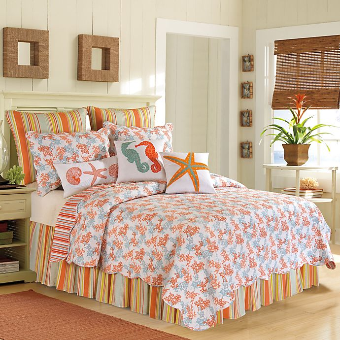 Alternate image 1 for Catalina Standard Pillow Sham in Coral