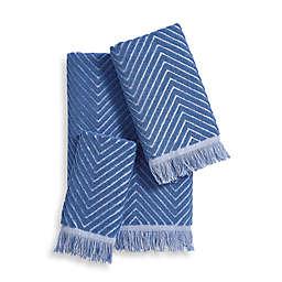 Chevron Textured Bath Towel Collection