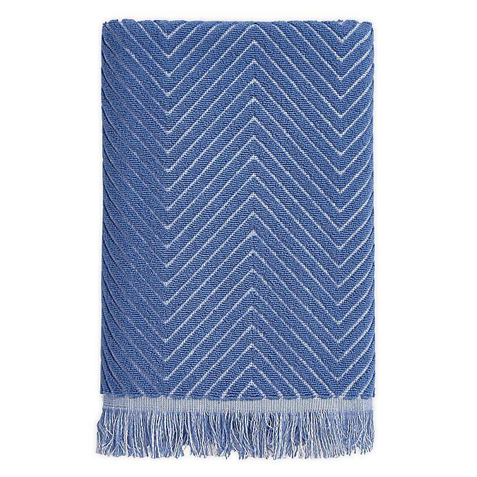 Alternate image 1 for Chevron Textured Bath Towel