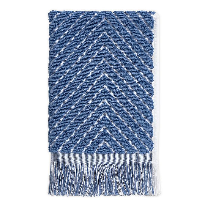 Alternate image 1 for Chevron Textured Fingertip Towel