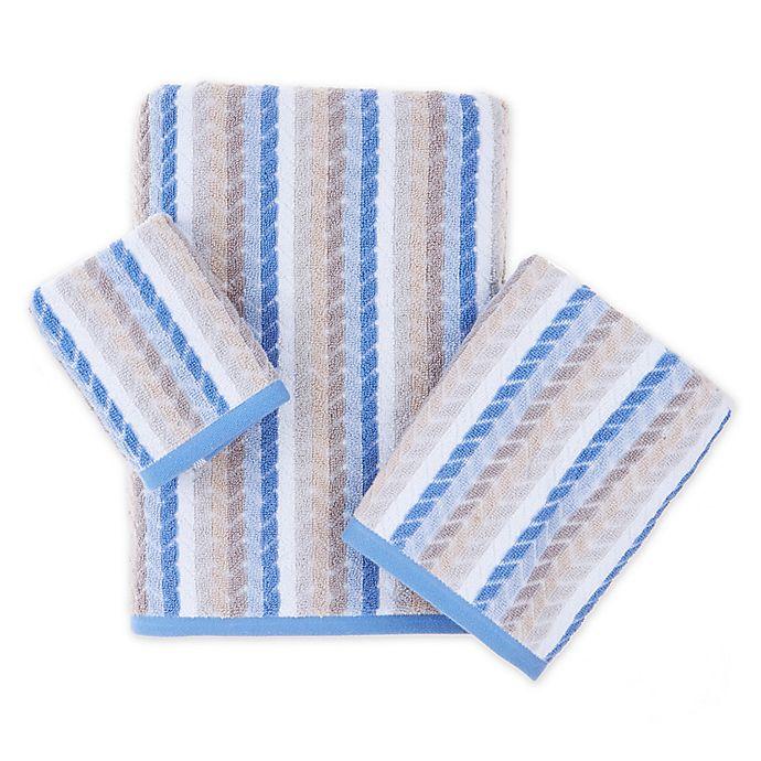 Alternate image 1 for Chevron Tile Bath Towel Collection