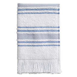 Stripe Fingertip Towel in Blue