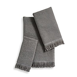 Ribbed Fringe Bath Towel Collection