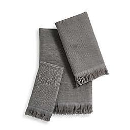 Ribbed Fringe Bath Towel Collection