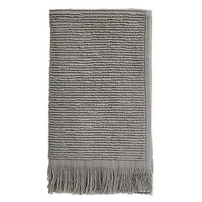 Alternate image 1 for Ribbed Fringe Fingertip Towel