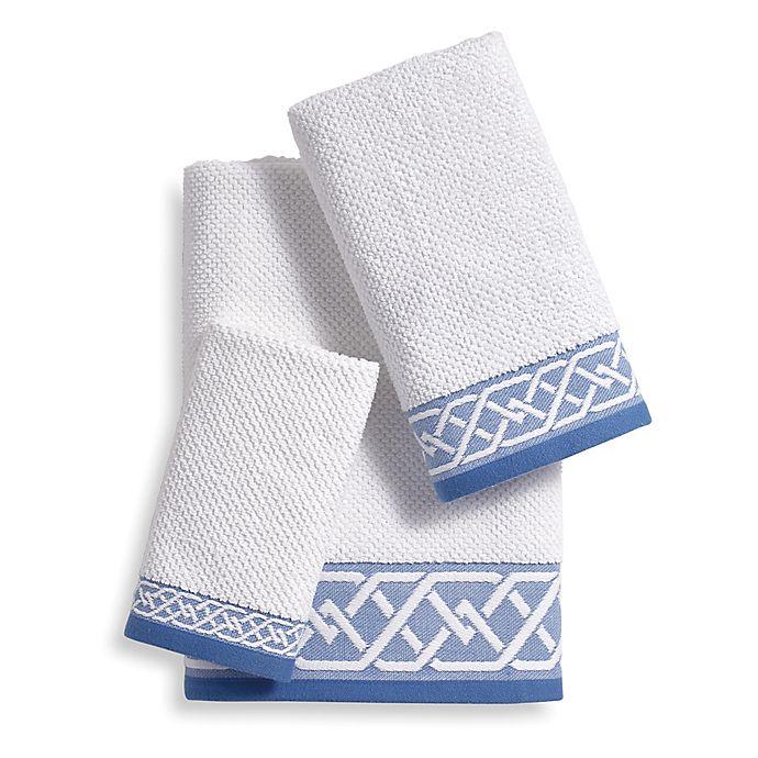 Alternate image 1 for Geometric Stripe Bath Towel Collection