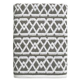 Style Lounge Geo Sculpt Bath Towel in Grey