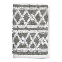 Style Lounge Geo Sculpt Fingertip Towel in Grey