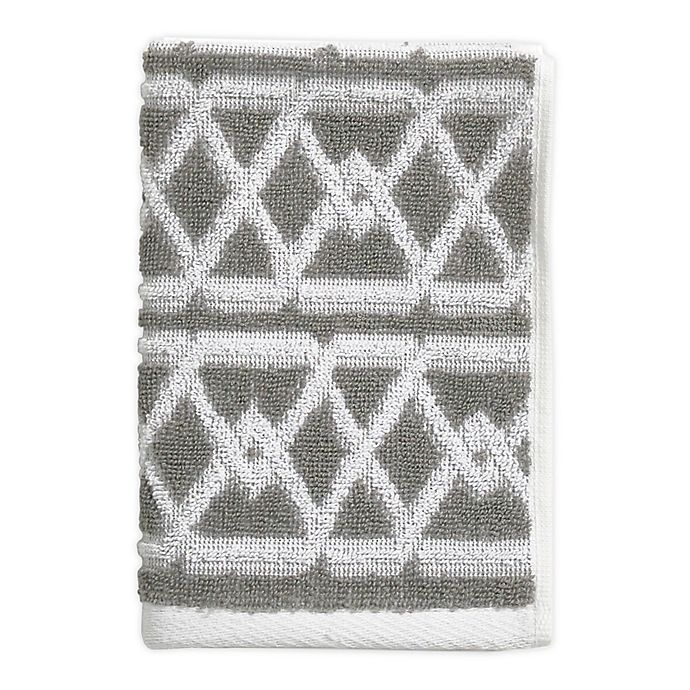 Alternate image 1 for Style Lounge Geo Sculpt Fingertip Towel in Grey