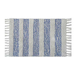 "Bee & Willow™ Home 21"" x 34"" Stripe Fringe Cotton Bath Rug"