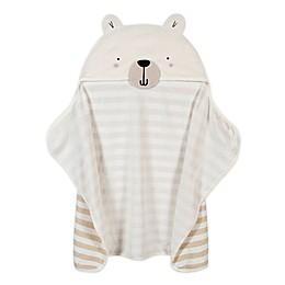 Gerber® Bear Hooded Towel in Ivory/Grey
