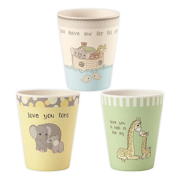 Alternate image 1 for Precious Moments® Noah's Ark Animals 3-Pack Cup Set
