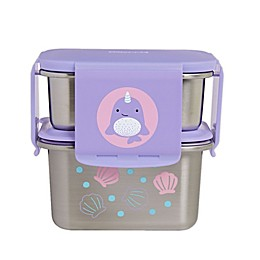 SKIP*HOP® Zoo 2-Piece Narwhal Stainless Steel Lunch Kit