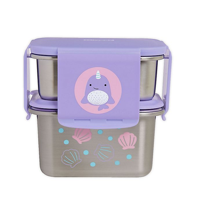 Alternate image 1 for SKIP*HOP® Zoo 2-Piece Narwhal Stainless Steel Lunch Kit