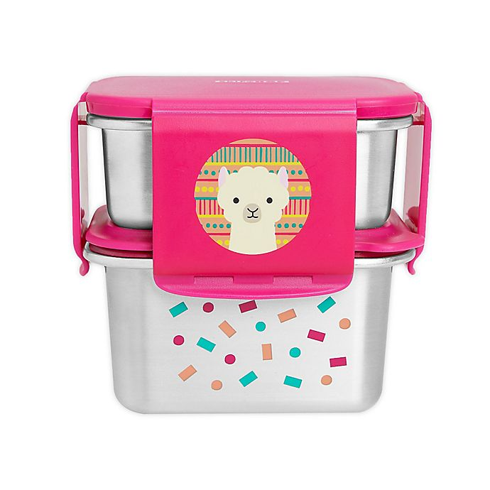 Alternate image 1 for SKIP*HOP® Zoo 2-Piece Llama Stainless Steel Lunch Kit