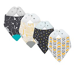Bazzle Baby 4-Pack All The Rage Banda Bib Teethers in Neutral