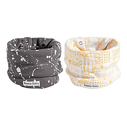 Bazzle Baby BandoBib 2-Pack All The Rage Infinity Scarf Drool Bib in Neutral