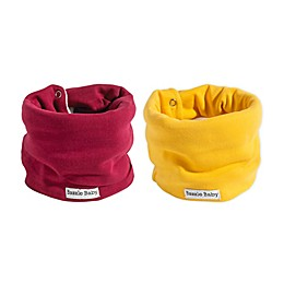 Bazzle Baby BandoBib 2-Pack Fall Solids Infinity Scarf Drool Bib in Red/Yellow