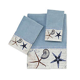 Avanti Antigua Blue Fog Bath Towel Collection