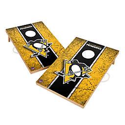 NHL Pittsburgh Penguins Gameday Solid Wood Cornhole Set