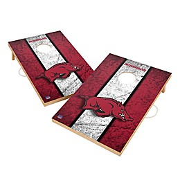 University of Arkansas Gameday Solid Wood Cornhole Set