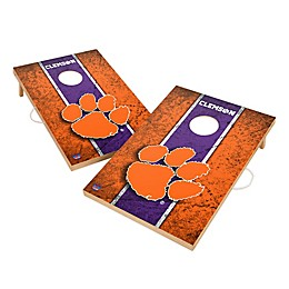 Clemson University Gameday Solid Wood Cornhole Set