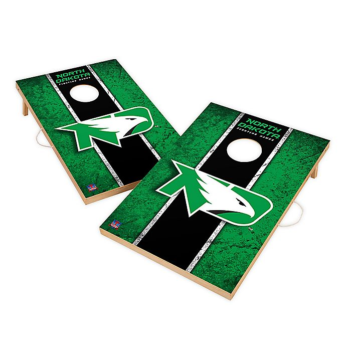 Alternate image 1 for University of North Dakota Gameday Solid Wood Cornhole Set