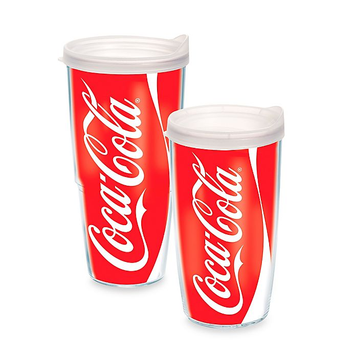 Alternate image 1 for Tervis® Coke® Can Wrap Tumbler with Lid