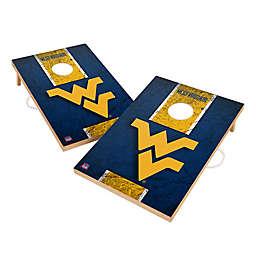 West Virginia University Gameday Solid Wood Cornhole Set