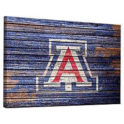 University of Arizona Weathered Canvas Wall Art