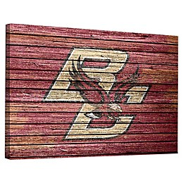 Boston College Weathered Canvas Wall Art