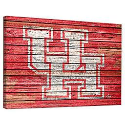 University of Houston Weathered Canvas Wall Art