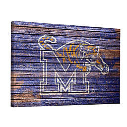 University of Memphis Weathered 18-Inch x 24-Inch Canvas Wall Art