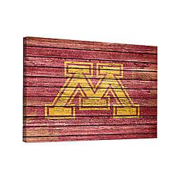 University of Minnesota Weathered 36-Inch x 48-Inch Canvas Wall Art
