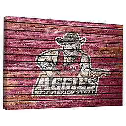 New Mexico State University Weathered 18-Inch x 24-Inch Canvas Wall Art