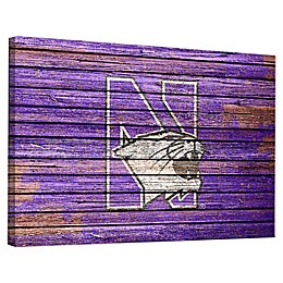 Northwestern University Weathered 18-Inch x 24-Inch Canvas Wall Art