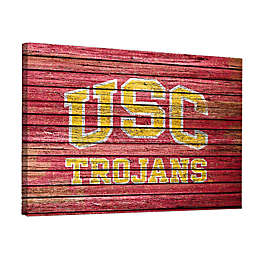 University of Southern California Weathered 18-Inch x 24-Inch Canvas Wall Art