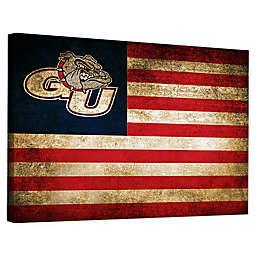 Gonzaga University Framed Vintage Canvas Flag Wall Art