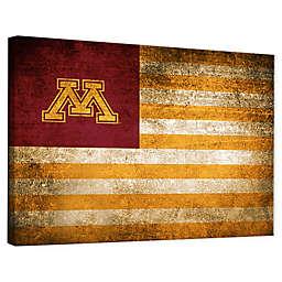 University of Minnesota Framed Vintage Canvas Flag Wall Art
