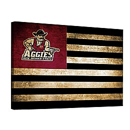 New Mexico State University 18-Inch x 24-Inch Framed Vintage Canvas Flag Wall Art