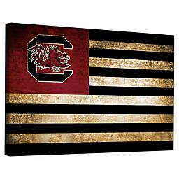 University of South Carolina Framed Vintage Canvas Flag Wall Art