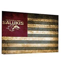 Southern Illinois University Framed Vintage Canvas Flag Wall Art