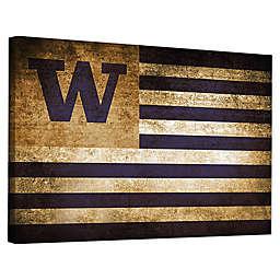 University of Washington Framed Vintage Canvas Flag Wall Art