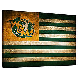 College of William & Mary Framed Vintage Canvas Flag Wall Art