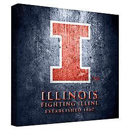 University of Illinois Framed Canvas Museum Design Wall Art