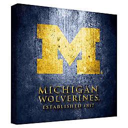 University of Michigan Framed Canvas Museum Design Wall Art