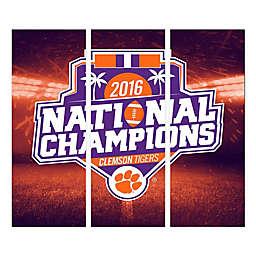 Clemson University Canvas Wall Art 2016 National Champions Triptych