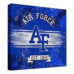 United States Air Force Academy Vintage Banner 24-Inch Square Canvas Wall Art