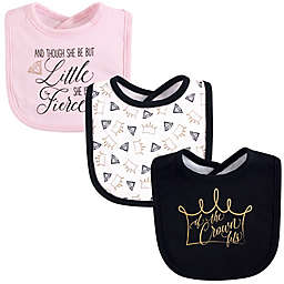 Yoga Sprout 3-Pack Crown Bibs in Black