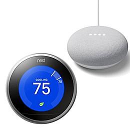 Google Nest Learning Thermostat with Bonus Google Home Mini